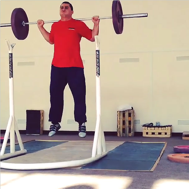 Weighted Barbell Squat Jumps - All Things Gym