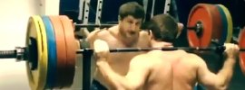 Khadzhimurat Akkaev 200kg BTN Jerk Still Training 2014