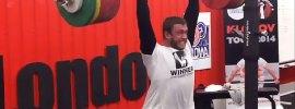Dmitry Klokov 235kg Rack Jerk