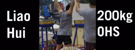 Liao Hui 200kg Bottom Up Overhead Squat