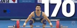 Liao Hui 170kg Snatch + 211kg Clean