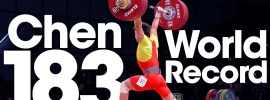 Chen Lijun 183kg Clean and Jerk World Record + 333kg Total World Record