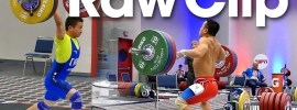 Raw Clip: Wu Jingiao and Om Yun Chol 56kg Warm Up Area at Worlds