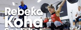 Rebeka Koha Warm Up Area Snatches & Clean & Jerks Bundesliga Weightlifting