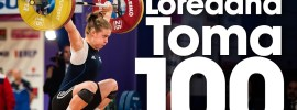 Loredana Toma 100kg Snatch 2017 European Championships