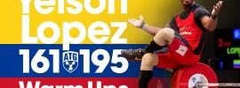 Yeison Lopez Full Warm Ups 161kg Snatch + 195kg Clean & Jerk 2017 Junior World Championships
