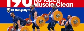 Simon Martirosyan 190kg No Touch Muscle Clean Session 2017 Junior Worlds