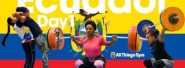 Team Ecuador with Angie & Neisi Dajomes Training Hall 2017 Junior Worlds *Update* Day 2
