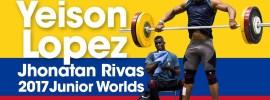 Yeison Lopez & Jhonatan Rivas Training Hall 2017 Junior Worlds