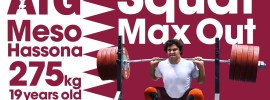 "Squat Max Out Session Fares ""Meso Hassona"" Elbakh (275kg PR)"