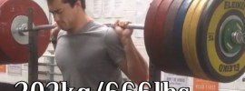 Clarence Kennedy 302kg Pause Squat