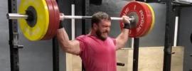 Dmitry Klokov 152.5kg Behind the Neck Snatch Grip Press