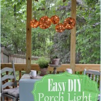 Easy DIY Outdoor Chandelier