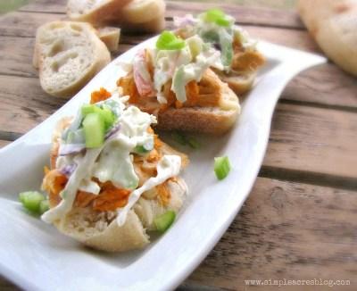 buffalo chicken sliders appetizer recipe