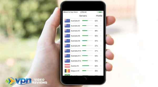 A view of the NordVPN mobile app