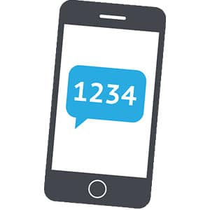 Using text message as a 2 factor authentication