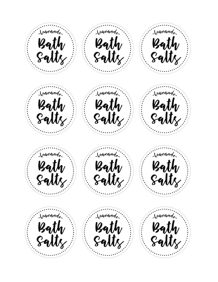 DIY Homemade Bath Salts With Free Printable Labels All
