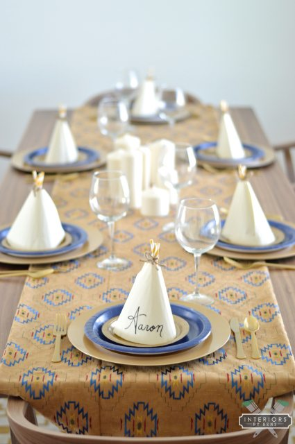 DIY Teepee Napkin Place Setting All Things Thrifty