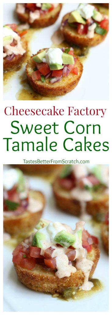 Sweet Corn Tamale Cakes (Cheesecake Factory Copycat) on TastesBetterFromScratch.com.