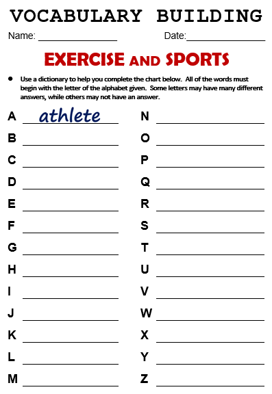 Exercise And Sports