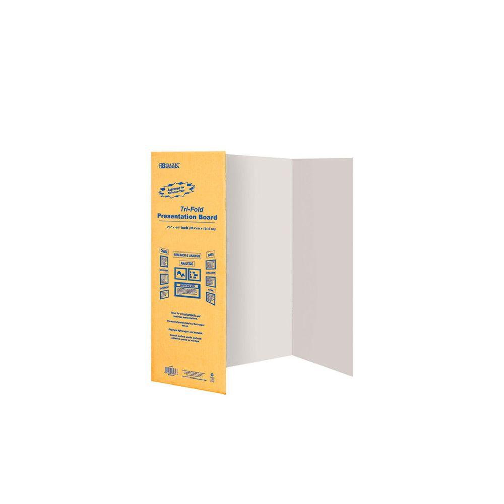 30 units of 28 x 40 white tri fold corrugated presentation board poster foam boards
