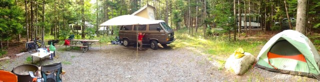 Vanagon Campground Scene
