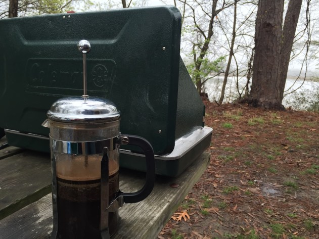 Coffee on the James River at Chickahominy Riverfront Park in Virginia.