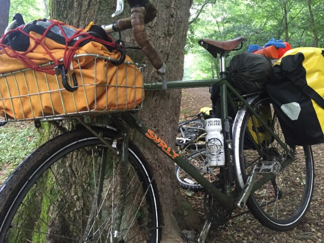 Putting the Mountainsmith modular hauler in the Wald basket was a great (and inexpensive) solution for carrying gear and keeping it easily accessible.