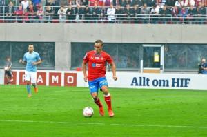 Anton Wede har tillhört en av HIFs främsta denna säsongen och fortsätter även kommande säsong Foto: Björn Wijk