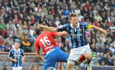 Dahlberg kom in och försökte ändra på matchbilden. Tyvärr blev det ändå förlust.  Foto: Björn Wijk