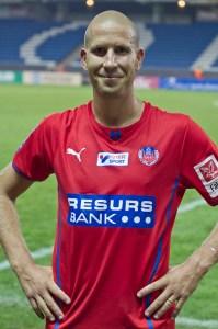 Lindström fick ett lyft efter U21-spel.  Foto: Bjarki Tordarson
