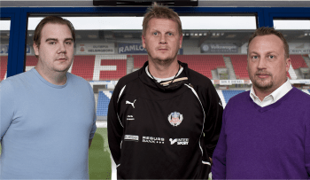 AOH's Jimmy Fors och Fredrik Ymer möter Ulrik Jansson (i mitten) på Olympia.