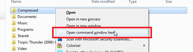 Open Command Window from any Folder Location