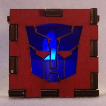 Autobots LED Gift Box blue