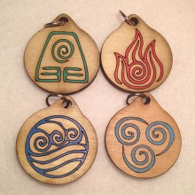 Anime Avatar Wood Necklace