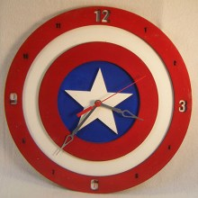 "Premade 14"" Marvel Captain America Wall Clock"
