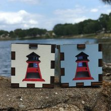 Lighthouse Outside LED Gift Box