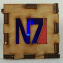 Mass Effect LED Gift Box blue