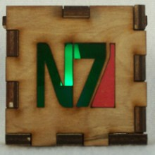 Mass Effect LED Gift Box green