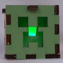 Minecraft LED Gift Box green