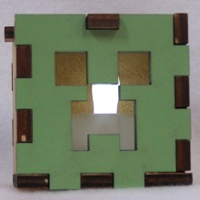 Minecraft LED Gift Box white