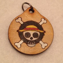 Anime One Piece Wood Necklace