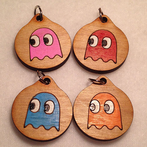 Pac-Man Ghost Group Pendants