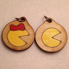 Pac-Man Group Wooden Necklaces and Pendants