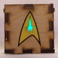 Star Trek LED Gift Box green