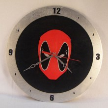 Dead Pool black background, 14 inch Build-A-Clock