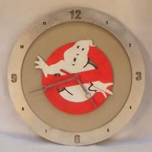 Ghostbusters Beige Background Clock