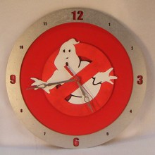 Ghostbusters Red Background Clock