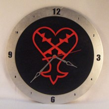 Heartless Kingdom Hearts black background, 14 inch Build-A-Clock