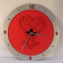 Heartless Kingdom Hearts red background, 14 inch Build-A-Clock